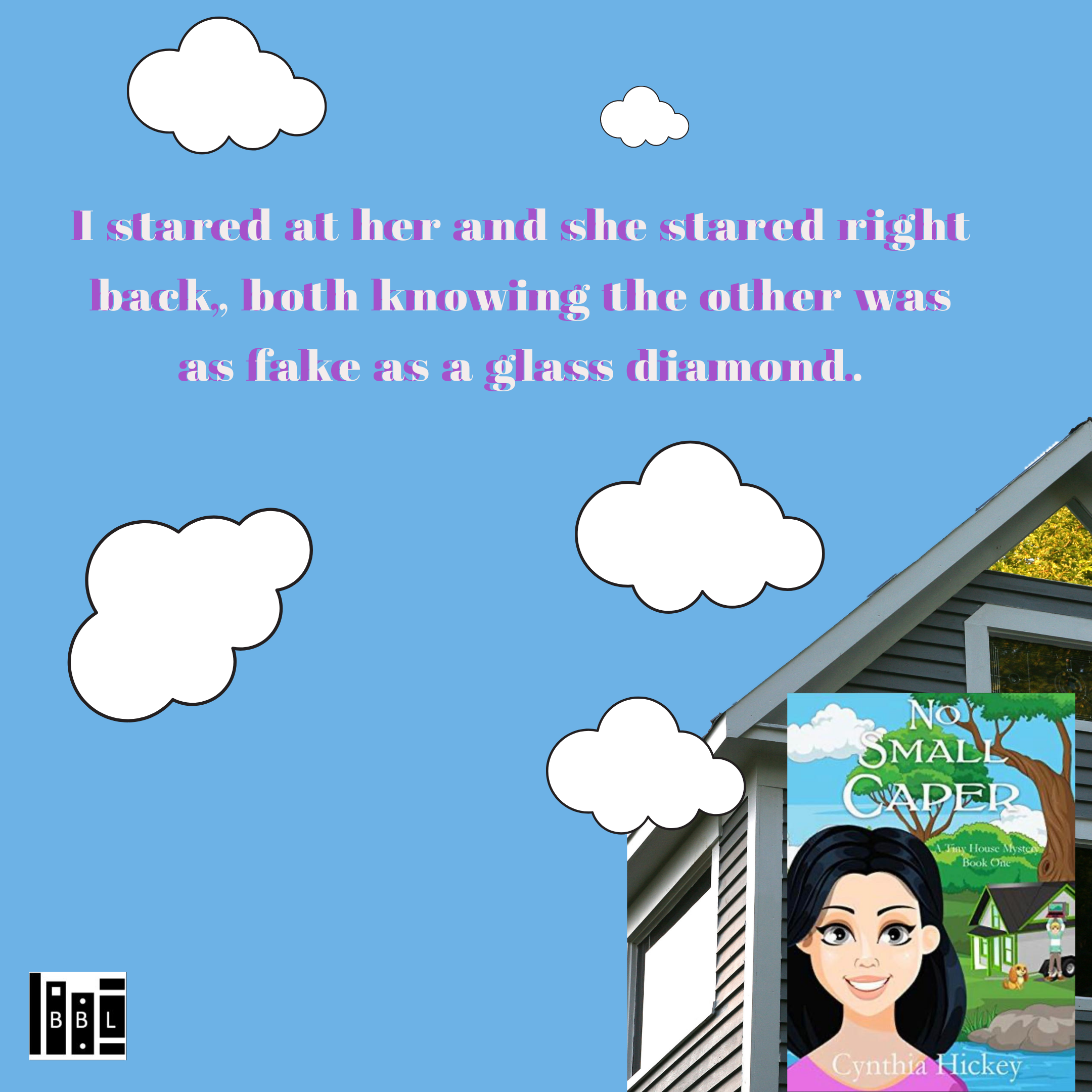 i stared at her and she stared right back both knowing the other was as fake as a glass diamond.